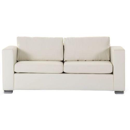 Skórzana sofa trzyosobowa beżowa - kanapa - HELSINKI (7081452500075)