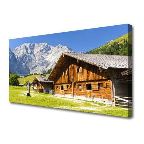 Tulup.pl Obraz na płótnie dom góra krajobraz przyroda