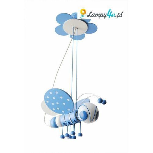 Prezent Lampa wisząca pszczółka 1xe27/60w/230v biała /niebieska (5908218910072)