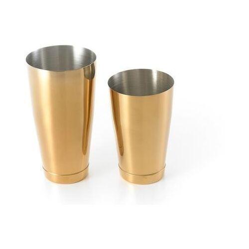 Shaker boston 2-częściowy typu tin&tin 700 ml+ 500 ml złoty marki Barup