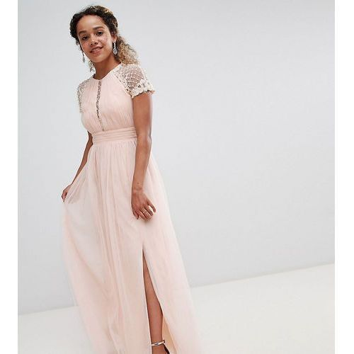 dc0a2ce81a Little Mistress Petite embellished bodice maxi dress - Pink