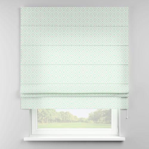 Dekoria roleta rzymska padva, szaro- miętowe romby na białym tle, szer.100 × dł.170 cm, geometric