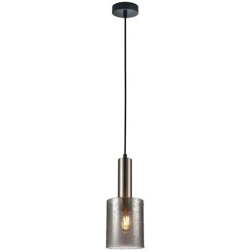 Italux Sardo Rain PND-5581-1-BK+RNSG lampa wisząca zwis 1x40W E27 czarna/dymiona, kolor Czarny