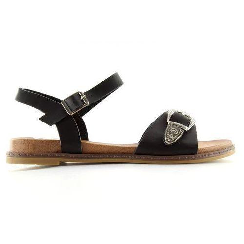 Buty obuwie damskie Sandałki damskie czarne f5910 black