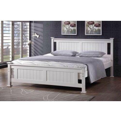 Łóżko drewniane białe 160x200 model 1104 marki Meblemwm
