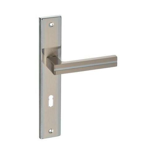 Klamka drzwiowa z długim szyldem pod klucz MADA 72 Nikiel/Chrom SCHAFFNER