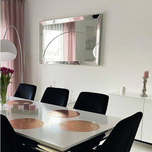 Bellacasa Srebrne lustro glamour prostokątne 90x150 cm m-0517-01 (5908273396422)