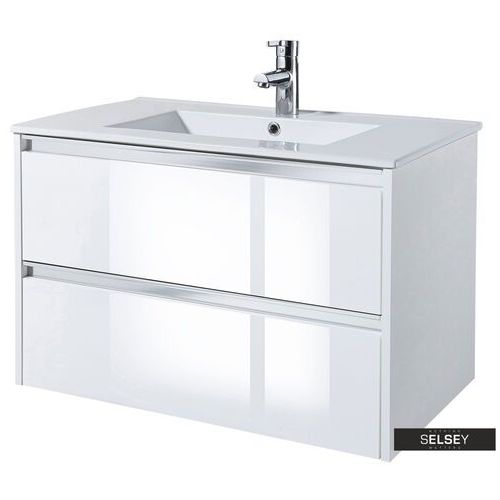 SELSEY Szafka pod umywalkę Antari 80 cm biała (5903025424392)