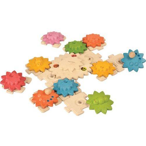 Drewniane puzzle koła zębate deluxe,  plto-5636, marki Plan toys