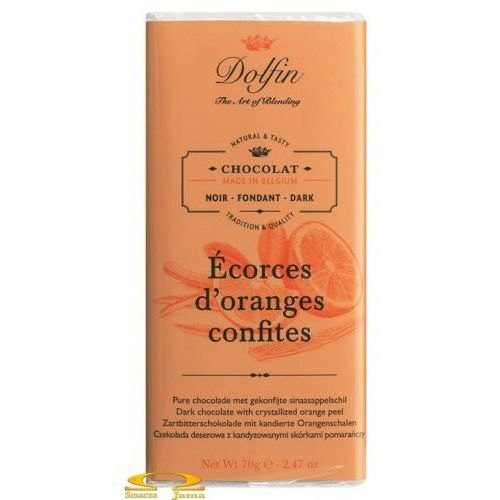 Czekolada Dolfin z kandyzowaną skórką pomarańczy 70g, 8834-122BA