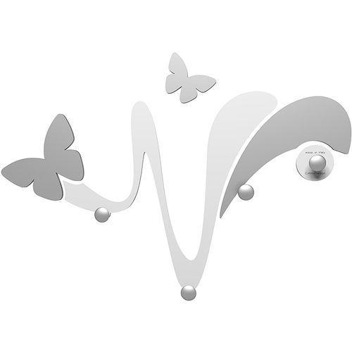 Calleadesign Wieszak ścienny dekoracyjny butterfly biały (50-13-1-1)