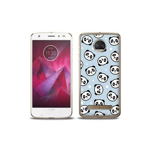 etuo Fantastic Case - Motorola Moto G6 Play - etui na telefon Fantastic Case - panda na niebieskim tle, kolor niebieski