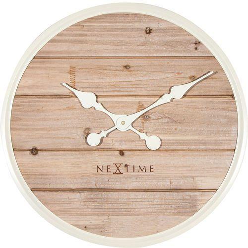 Nextime Zegar ścienny plank 50 cm, jasny (3134 wi)
