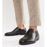 wide fit axminster formal shoes in black leather - black marki H by hudson