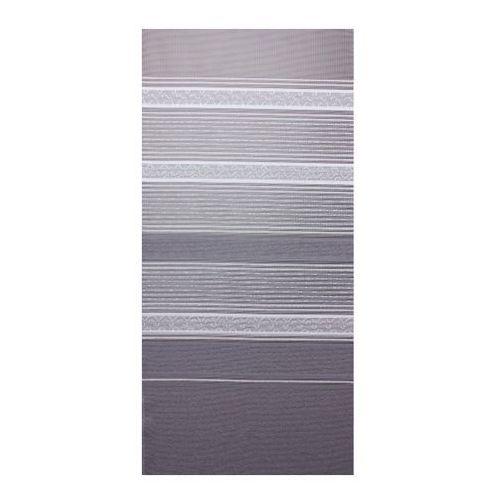 Firana żakardowa Duero 250 cm biało-szara, kolor biały