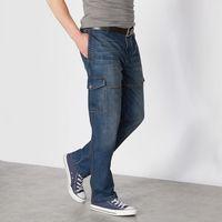 Dzinsy z kieszeniami, z tyłu gumka w pasie, jeansy