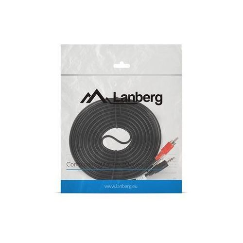 Kabel audio Lanberg stereo minijack - 2x Chinch M/M 10m (5901969414011)