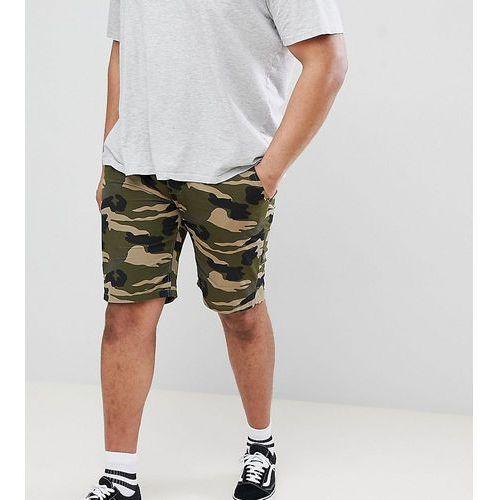 D-struct plus turn up camo chino shorts - green
