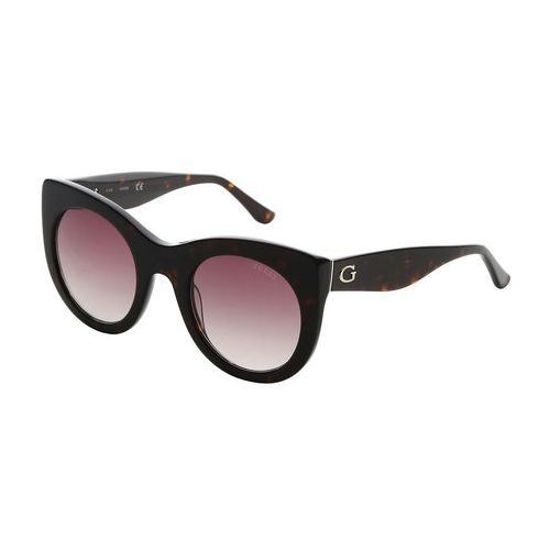 Okulary Przeciwsłoneczne Damskie Guess GU7485_52F Brązowe