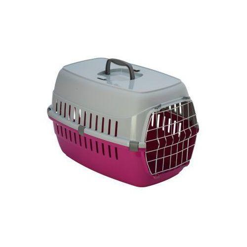 Transporter z kratką dla dużego kota - pink
