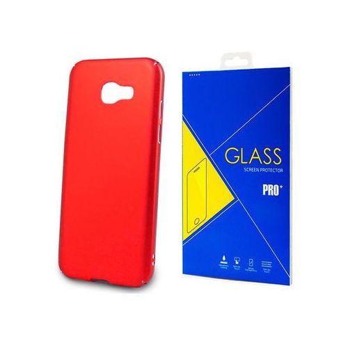 Etui Thin Case do Samsung Galaxy A5 2017 Czerwone + Szkło - Czerwony