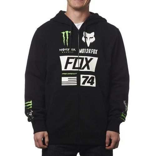 Bluza  z kapturem na zamek monster union black marki Fox