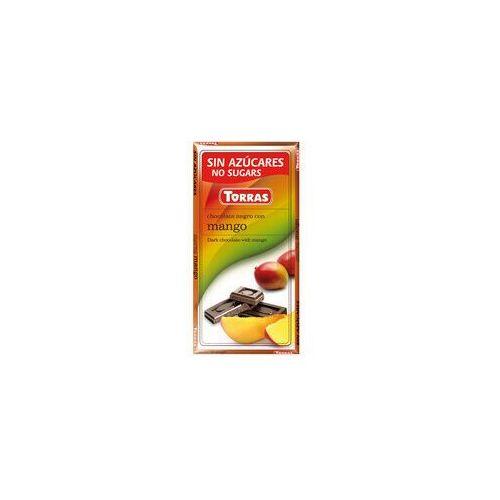 Torras Czekolada gorzka z mango, bez cukru, bezglutenowa - 75g ,