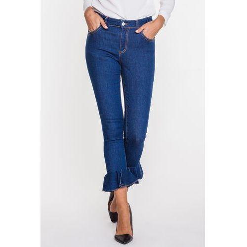 Jeansy z falbaną na dole - Tova, jeans
