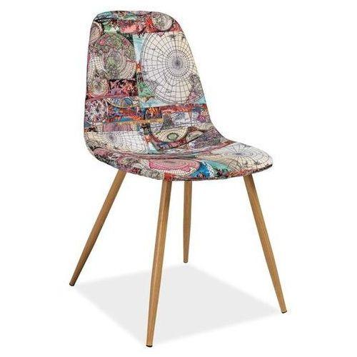 Nowoczesne krzesło z motywem mapy citi marki Signal