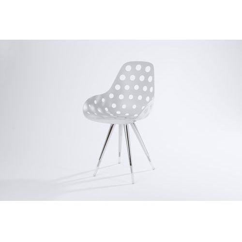Kubikoff Krzesło ANGEL CONTRACT BLACK/WALNUT DIMPLE HOLES angelcontrdimpleholes, kolor różowy