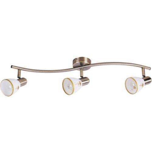 Listwa lampa sufitowa Rabalux Art Flower 3x40W E14 brąz 6358 (5998250363585)