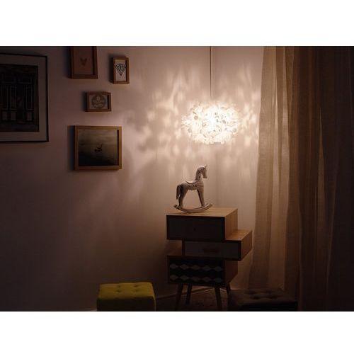Beliani Lampa wisząca biała lamone