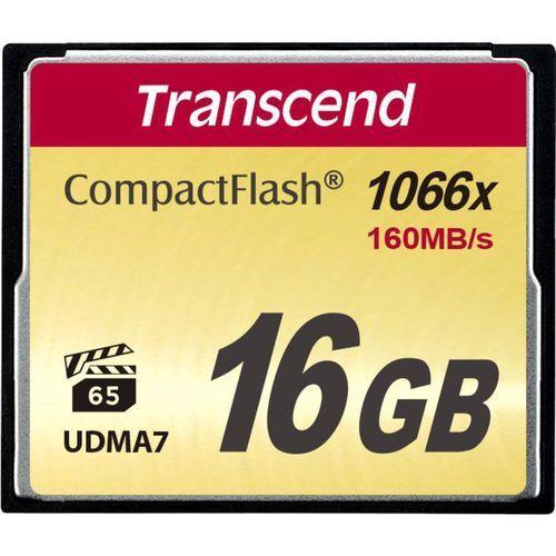 Karta pamięci CF Transcend TS16GCF1000, 16 GB, 160 MB/s / 70 MB/s