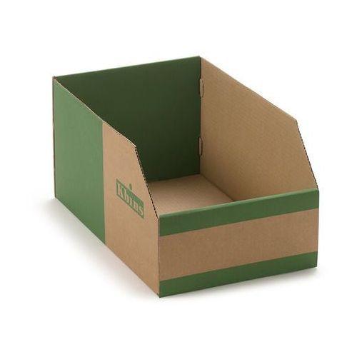 K bins limited Skrzynki regałowe z kartonu, składane, opak. 25 szt., dł. x szer. x wys. 400x250