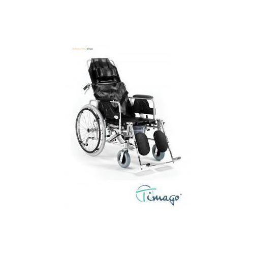 Wózek inwalidzki stabilizujący plecy i głowę z funkcją toaletową - rozm 46cm marki Timago
