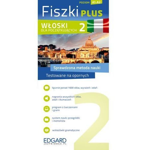 Fiszki Plus. Włoski dla początkujących 2 (2014). Najniższe ceny, najlepsze promocje w sklepach, opinie.