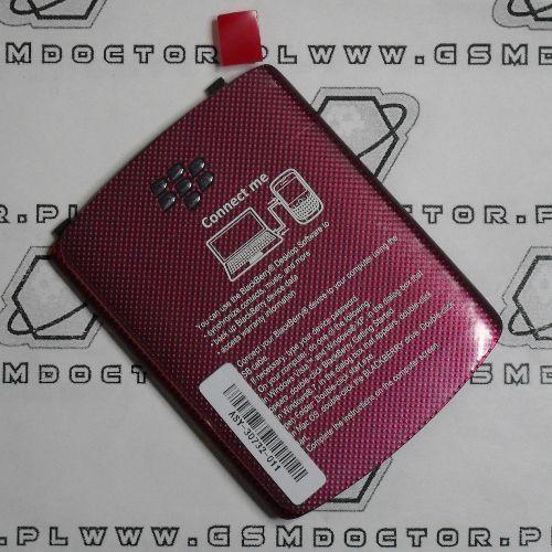 Obudowa Blackberry 9300 Curve tylna / pokrywa baterii czerwona