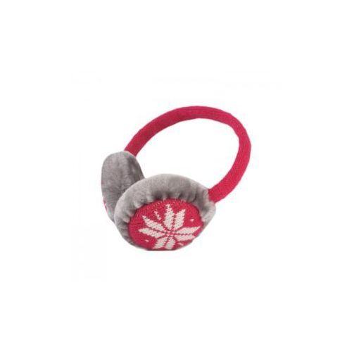 Zimowe nauszniki z wbudowanymi słuchawkami Forever Winter czerwone