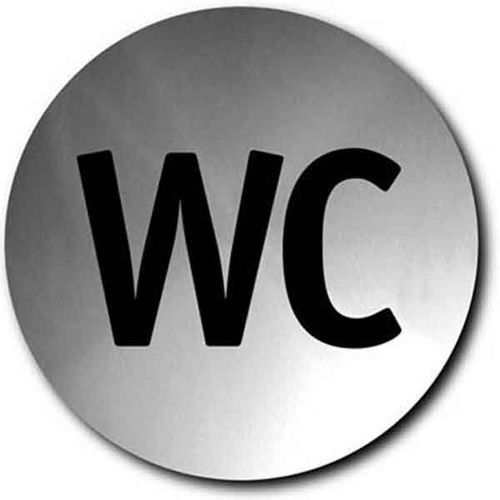 Oznaczenie toalet metalowe okrągłe WC, M68151