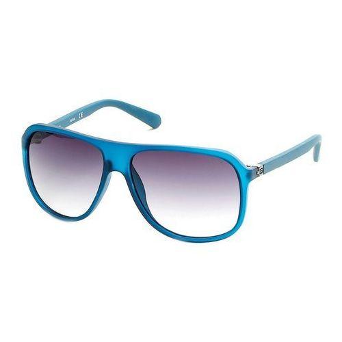 Okulary Przeciwsłoneczne Męskie Guess GU6876_91B Niebieskie, kolor niebieski