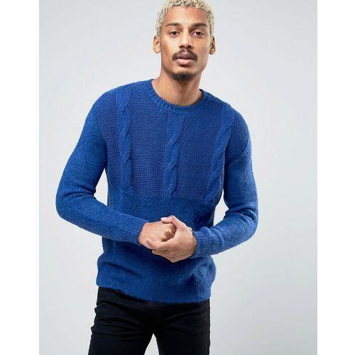deprived knit half cable jumper - black marki Cheap monday