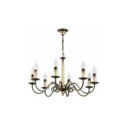 Lemir Asti O2898 W8 Pat lampa wisząca zwis 8X60W E14 patyna (5907176575347)