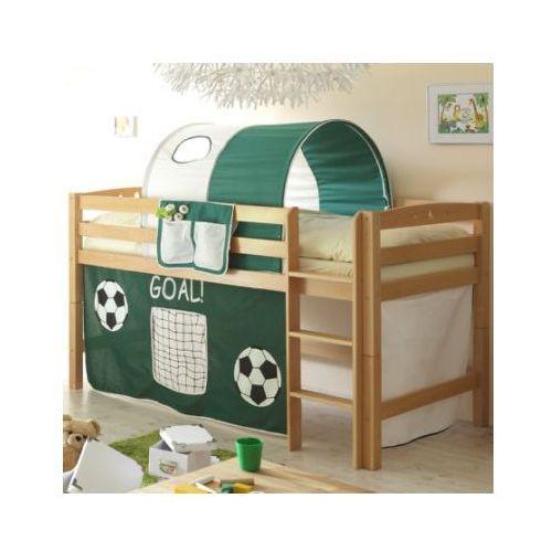 Ticaa kindermöbel Ticaa łóżko piętrowe timmy r buk, naturalny - goal ciemnozielony/biały