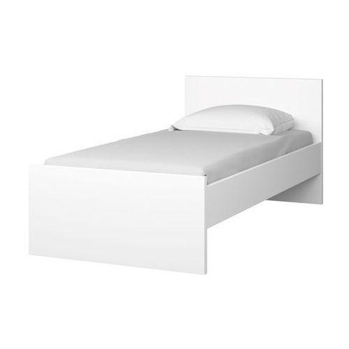 Zestaw naia łóżko materac stelaż wysoki połysk marki Tvilum