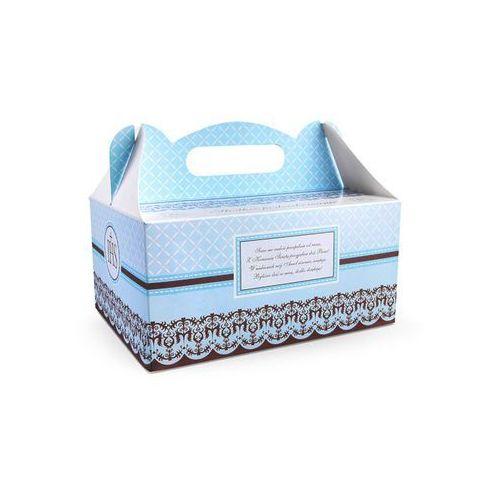 Party deco Ozdobne pudełko na ciasto komunijne - niebieskie - 1 szt. (5901157437525)