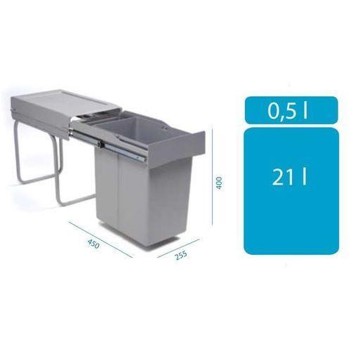 Sortownik ALVEUS ALBIO 20 (1x21l + 1x0,5l), towar z kategorii: Kosze na śmieci
