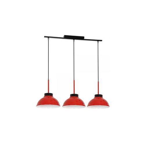 Lampa wisząca zwis żyrandol Luminex Factor Red 3x60W E27 czerwony 6153