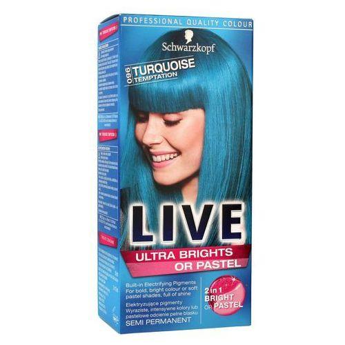 Schwarzkopf Color Live Farba do włosów 96 kuszący turkus - Schwarzkopf, 9000101069938