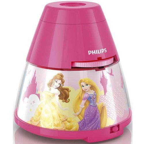 Disney - lampka nocna projektor led różowy księżniczki wys.11,8cm marki Philips