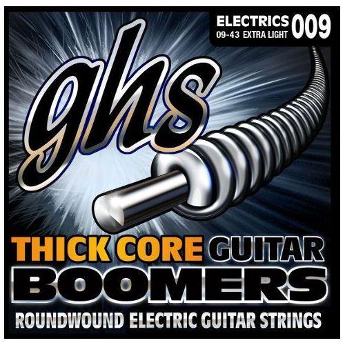 GHS Thick Core Guitar Boomers struny do gitary elektrycznej, Extra Light,.009-.043